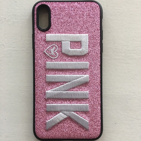 on sale 84764 6ec54 VS PINK 3D Glitter iPhone X Pink Phone Case NWT